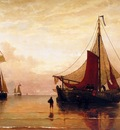 Mesdag H Sunset on Dutch coast Sun