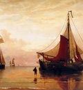 Mesdag H Sunset on Dutch coast Sun