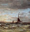 Mesdag Hendrik Willem Approaching Storm Sun
