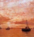 Mesdag Hendrik Willem Calm Sea Sun