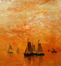 Mesdag Hendrik Willem Evening Colours Sun