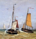 Mesdag Hendrik Willem Leaving Of The Fleet Sun
