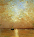 Mesdag Hendrik Willem Sunset At Scheveningen Sun
