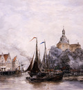Mesdag Hendrik Willem The Port Of Enkhuizen Sun