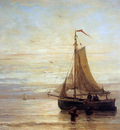 Mesdag Hendrik Willem Unloading The Fish Sun