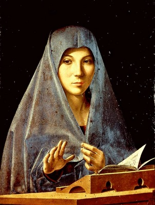 Antonello da Messina The virgin annunciate, NG Palermo