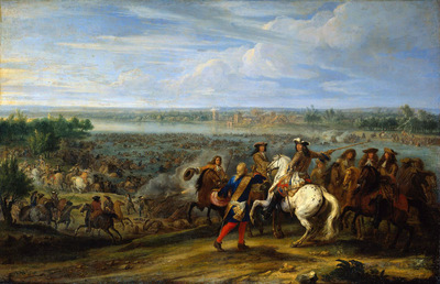 Meulen van der Adam French army at Lobith Sun