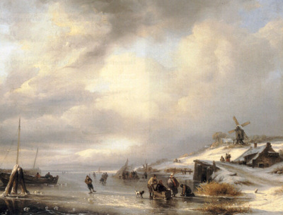 Figures on a Frozen Lake