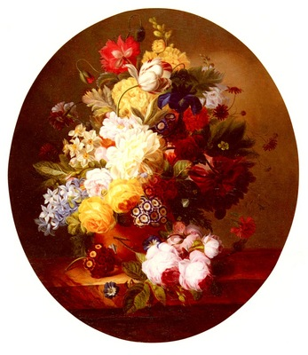 Meyer Louise A Still Life With A Bouquet