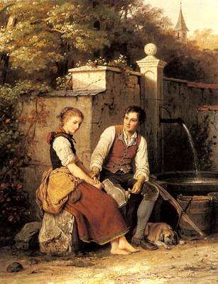 Meyer Von Bremen Johann Georg At The Well