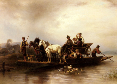 Meyerheim Wilhelm Alexander The Arrival Of The Ferry