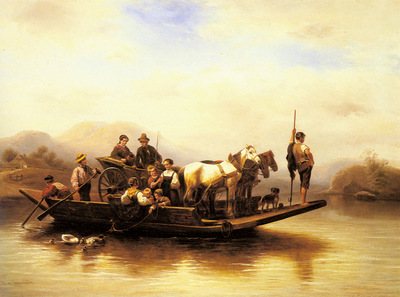 Meyerheim Wilhelm Alexander The Ferry Crossing