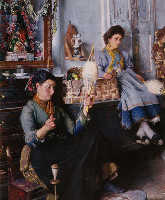 Venetian Women Spinning Wool