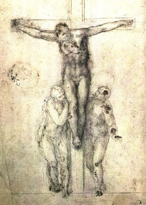 Crucifix drawing EUR
