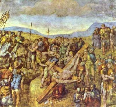Michelangelo Crucifixion of Saint Peter