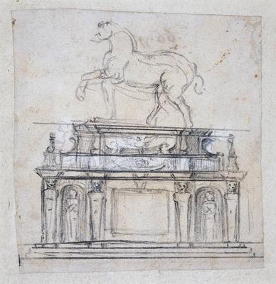 Michelangelo Design for a statue of Henry II of France on horseback