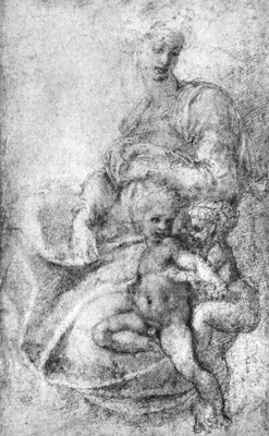Michelangelo Madonna Child and St John
