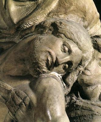 Michelangelo Pieta c1550 detail2