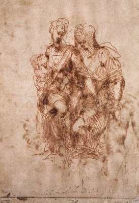 Michelangelo St Anne with the Virgin and the Christ Child