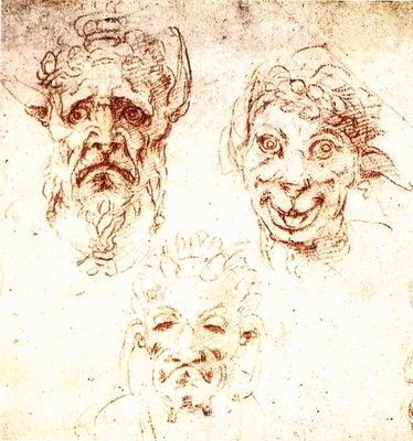michelangelo studies of grotesques