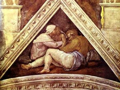Michelangelo The Ancestors of Christ; Josias, Jechonias and Salathiel