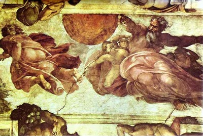 Michelangelo The Creation of the Sun and Moon