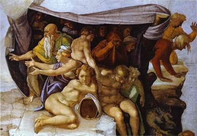 Michelangelo The Flood detail