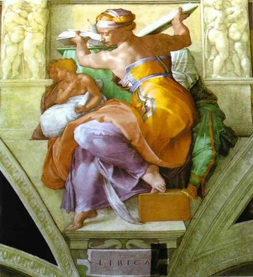 Michelangelo The Libyan Sibyl