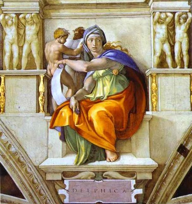 Michelangelo The Sibyl of Delphi