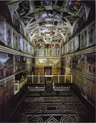 Michelangelo The interior of the Sistine Chape