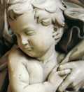 Michelangelo Madonna and Child detail2