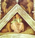 Michelangelo The Ancestors of Christ; Jesse, David and Solomon