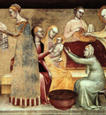 Giovanni da Milano The birth of the virgin, 1365, Rinuccini