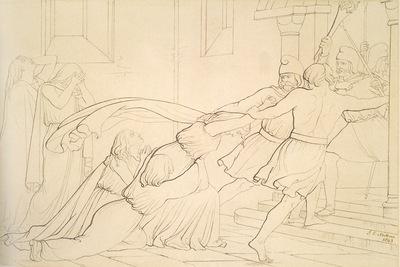 Millais Elgiva seized by order of Odo Archbishop of Canterbury
