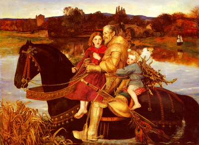 Millais Sir John Everett A Dream Of The Past Sir Isumbras At The Ford