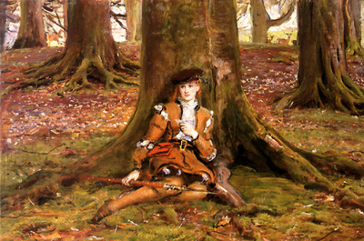 ger JohnEverettMillais RosalindInTheForest