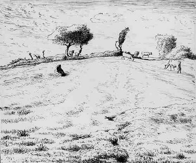 Landscape Hillside in Gruchy Normandy ATN