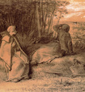 Millet Jean Francois Shepherdesses Seated In The Shade