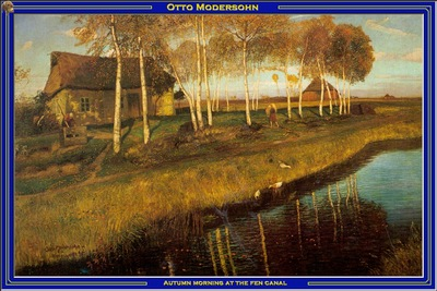 PO Vp S2 40 Modersohn Autumn morning at the fen canal
