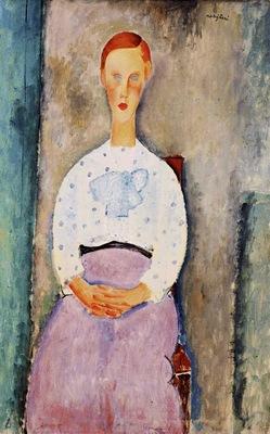 Modigliani Girl with Polka Dot Blouse, 1919, Barnes foundati