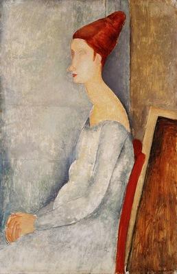 Modigliani Jeanne Hbuterne Seated in Profile, 1918, Barnes f