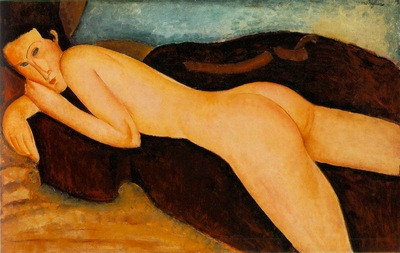 modigliani nu couche de dos, 1917 100 kb oil on canvas,