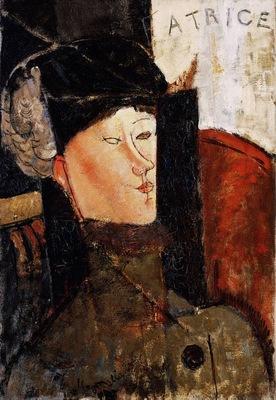 Modigliani Portrait of Beatrice Hastings, 1916, Barnes found