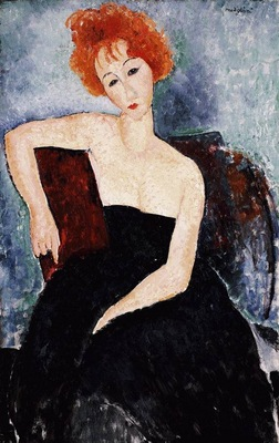 Modigliani Young Redhead in an Evening Dress, 1918, Barnes