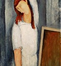 Modigliani Jeanne Hbuterne, Left Arm Behind her Head, 1919,