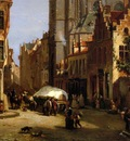 Moer van Jean Baptiste View on a city Sun