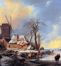 Moerman Albert Winter landscape Sun