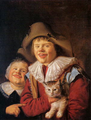 Molenaer Jan Miense Children with cat Sun