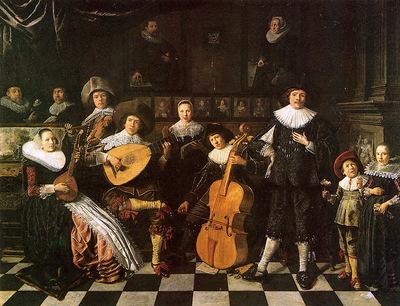 Molenaer Jan Miense Family making music Sun