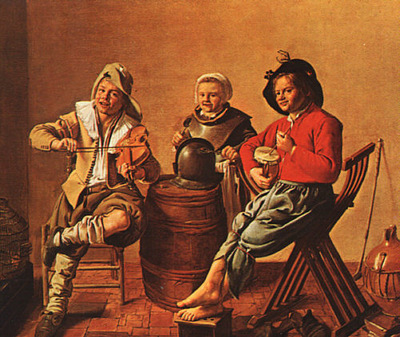 Molenaer Two Boys and a Girl Making Music, NG London